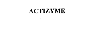 mark for ACTIZYME, trademark #75619784