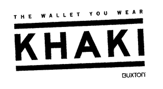 mark for THE WALLET YOU WEAR KHAKI BUXTON, trademark #75621487