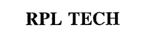 mark for RPL TECH, trademark #75633791