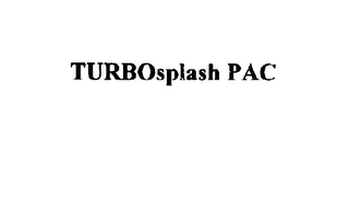 mark for TURBOSPLASH PAC, trademark #75640589