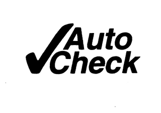 mark for AUTO CHECK, trademark #75645274