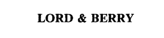 mark for LORD & BERRY, trademark #75661954