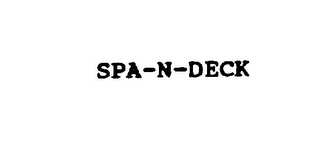 mark for SPA-N-DECK, trademark #75662376