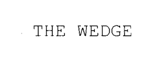 mark for THE WEDGE, trademark #75663698