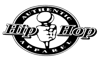 mark for AUTHENTIC HIP HOP APPAREL, trademark #75668905
