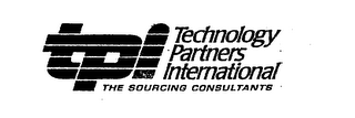 mark for TPI TECHNOLOGY PARTNERS INTERNATIONAL THE SOURCING CONSULTANTS, trademark #75677896