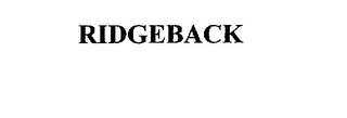 mark for RIDGEBACK, trademark #75681374