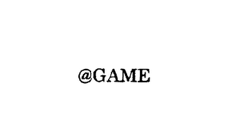 mark for @GAME, trademark #75703157