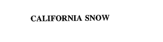 mark for CALIFORNIA SNOW, trademark #75710725