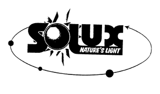 mark for SOLUX NATURE'S LIGHT, trademark #75762299