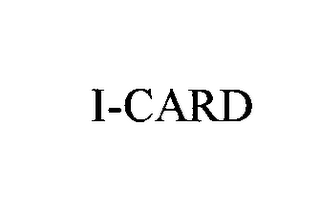 mark for I-CARD, trademark #75763850