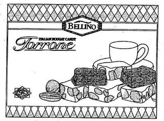 mark for BELLINO ITALIAN NOUGAT CANDY TORRONE, trademark #75781846