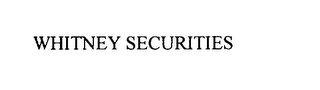 mark for WHITNEY SECURITIES, trademark #75786936