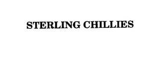 mark for STERLING CHILLIES, trademark #75794947