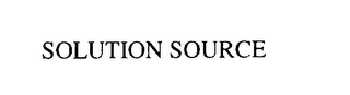 mark for SOLUTION SOURCE, trademark #75796173