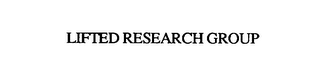 mark for LIFTED RESEARCH GROUP, trademark #75804444