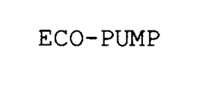 mark for ECO-PUMP, trademark #75810300
