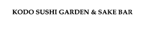 mark for KODO SUSHI GARDEN & SAKE BAR, trademark #75814233