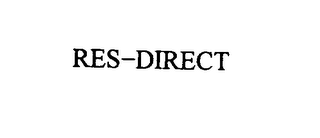 mark for RES-DIRECT, trademark #75833251