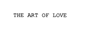 mark for THE ART OF LOVE, trademark #75840030