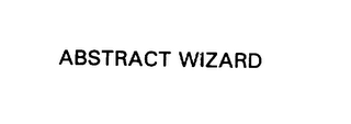 mark for ABSTRACT WLZARD, trademark #75854222