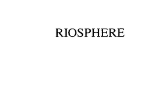 mark for RIOSPHERE, trademark #75856235