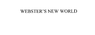 mark for WEBSTER'S NEW WORLD, trademark #75872510
