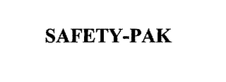 mark for SAFETY-PAK, trademark #75884503