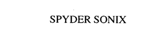 mark for SPYDER SONIX, trademark #75897579
