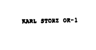 mark for KARL STORZ OR-1, trademark #75898434