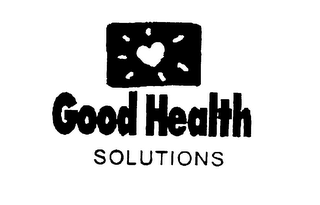mark for GOOD HEALTH SOLUTIONS, trademark #75900874