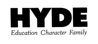 mark for HYDE EDUCATION CHARACTER FAMILY, trademark #75908948