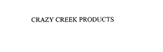 mark for CRAZY CREEK PRODUCTS, trademark #75909396