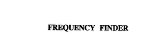 mark for FREQUENCY FINDER, trademark #75917414