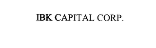 mark for IBK CAPITAL CORP., trademark #75927256