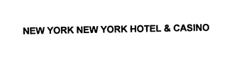 mark for NEW YORK NEW YORK HOTEL & CASINO, trademark #75928392