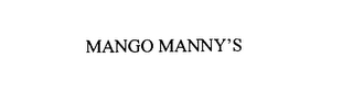 mark for MANGO MANNY'S, trademark #75931648