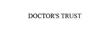 mark for DOCTOR'S TRUST, trademark #75933154