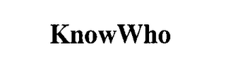mark for KNOWWHO, trademark #75934002
