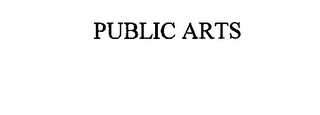 mark for PUBLIC ARTS, trademark #75934698