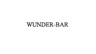 mark for WUNDER-BAR, trademark #75942876