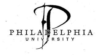 mark for P PHILADELPHIA UNIVERSITY, trademark #75983125