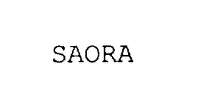 mark for SAORA, trademark #75983324