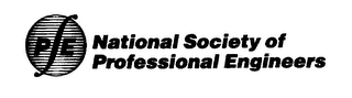 mark for P E NATIONAL SOCIETY OF PROFESSIONAL ENGINEERS, trademark #76004122