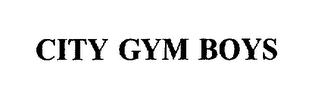 mark for CITY GYM BOYS, trademark #76006325