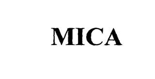 mark for MICA, trademark #76009125