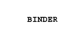 mark for BINDER, trademark #76012396