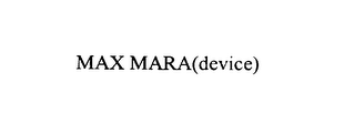 mark for MAX MARA, trademark #76012694
