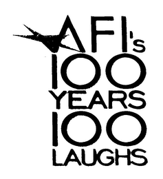 mark for AFI'S 100 YEARS 100 LAUGHS, trademark #76023562