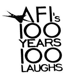 mark for AFI'S 100 YEARS 100 LAUGHS, trademark #76023564